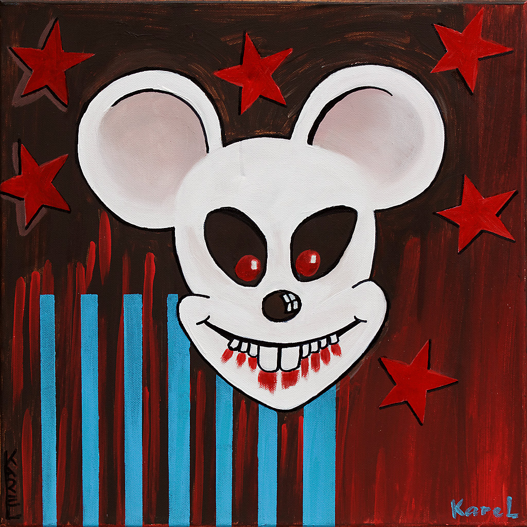 Bad Micky 40x40 © Karel de Gendre