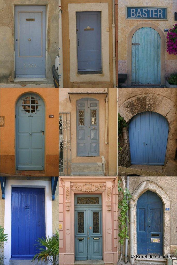© Karel de Gendre, portes bleues