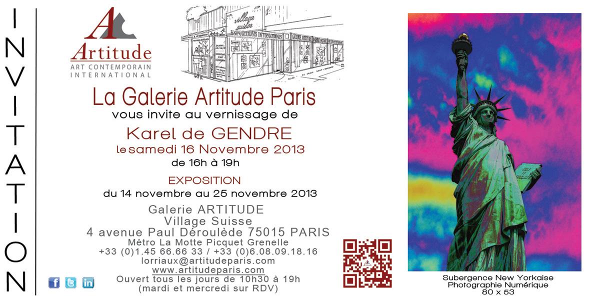 Vernissage 16 Novembre Exposition New York A La Galerie Artitude